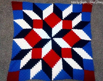 Carpenter Wheel Baby Afghan C2C Crochet Pattern, Written Row by Row Counts, C2C Graphs, Corner to Corner Crochet Pattern, Graphgan, Quilt