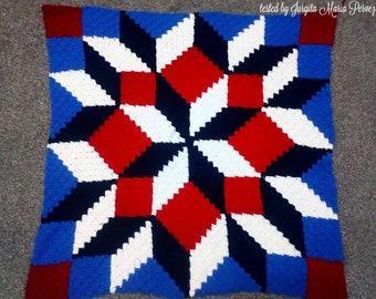 Carpenter Wheel Baby Blanket, C2C Crochet Pattern, Written Row Counts, C2C Graphs, Corner to Corner, Crochet Pattern, C2C Graph