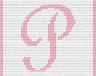 Letter P Baby Afghan, C2C Crochet Pattern, Written Row by Row, Color Counts, Instant Download, C2C Graph, C2C Pattern, Graphgan Pattern