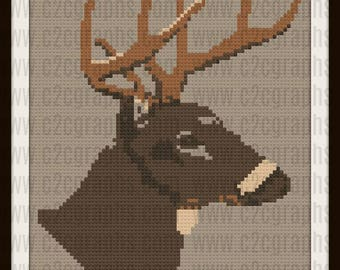 Mule Deer Afghan, C2C Crochet Pattern, Written Row Counts, C2C Graphs, Corner to Corner, Crochet Pattern, C2C Graph