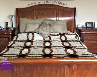 Wedding Ring Quilt Blanket , C2C Crochet Pattern, Written Row Counts, C2C Graphs, Corner to Corner, Crochet Pattern, C2C Graph