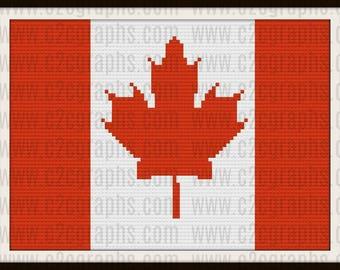 Canadian Flag, C2C Graph, Canadian Flag Crochet Pattern, Canadian Flag Afghan pattern