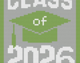 Class of 2026 Afghan, C2C Crochet Pattern, Written Row Counts, C2C Graphs, Corner to Corner, Crochet Pattern, C2C Graph