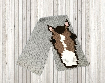 Horse Scarf, C2C Crochet Pattern, Written Row Counts, C2C Graphs, Corner to Corner, Crochet Pattern, C2C Graph