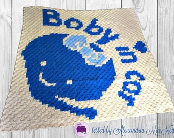 Baby in Car Afghan, C2C Crochet Pattern, Written Row Counts, C2C Graphs, Corner to Corner, Crochet Pattern, C2C Graph