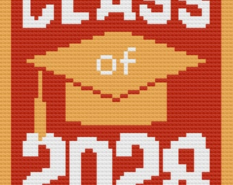 Class of 2028 Afghan, C2C Crochet Pattern, Written Row Counts, C2C Graphs, Corner to Corner, Crochet Pattern, C2C Graph