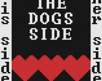 Dogs Side Afghan, C2C Crochet Pattern, Written Row Counts, C2C Graphs, Corner to Corner, Crochet Pattern, C2C Graph