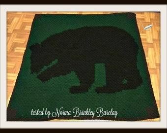 Brown Bear Afghan, C2C Crochet Pattern, Written Row Counts, C2C Graphs, Corner to Corner, Crochet Pattern, C2C Graph