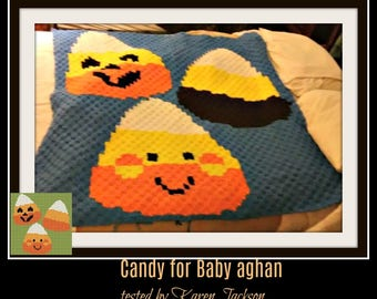 Candy for Baby Afghan, C2C Crochet Pattern, Written Row Counts, C2C Graphs, Corner to Corner, Crochet Pattern, C2C Graph
