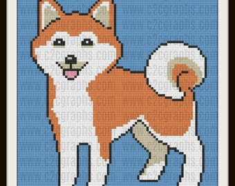 Shiba Inu Afghan, C2C Crochet Pattern, Written Row Counts, C2C Graphs, Corner to Corner, Crochet Pattern, C2C Graph
