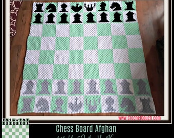 Chess Board Afghan, C2C Crochet Pattern, Written Row Counts, C2C Graphs, Corner to Corner, Crochet Pattern, C2C Graph