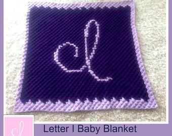 Letter I Baby Afghan, C2C Crochet Pattern, Written Row Counts, C2C Graphs, Corner to Corner, Crochet Pattern, C2C Graph