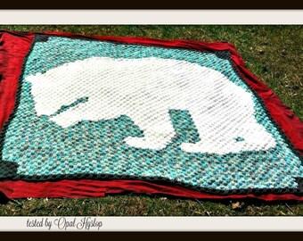 Polar Bear Afghan, C2C Crochet Pattern, Written Row Counts, C2C Graphs, Corner to Corner, Crochet Pattern, C2C Graph