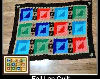 Fall Lap Quilt Afghan, C2C Crochet Pattern, Written Row Counts, C2C Graphs, Corner to Corner, Crochet Pattern, C2C Graph