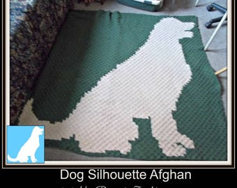 Dog Silhouette Afghan, C2C Crochet Pattern, Written Row Counts, C2C Graphs, Corner to Corner, Crochet Pattern, C2C Graph
