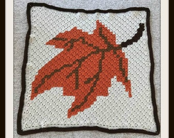 Maple Leave Square, C2C Crochet Pattern, Written Row Counts, C2C Graphs, Corner to Corner, Crochet Pattern, C2C Graph