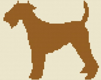 Welsh Terrier, Silhouette Afghan, C2C Crochet Pattern, Written Row by Row, Color Counts, Instant Download, C2C Graph, C2C Pattern