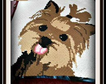 Yorkie Afghan, C2C Crochet Pattern, Written Row Counts, C2C Graphs, Corner to Corner, Crochet Pattern, C2C Graph
