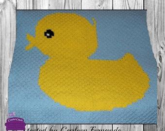 Rubber Duck Baby Blanket, C2C Crochet Pattern, Written Row Counts, C2C Graphs, Corner to Corner, Crochet Pattern, C2C Graph
