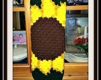 Sunflower Grocery Bag Holder, C2C Crochet Pattern, Written Row Counts, C2C Graphs, Corner to Corner, Crochet Pattern, C2C Graph