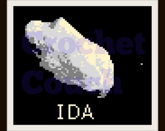 IDA Asteroid Afghan, C2C Crochet Pattern, Written Row Counts, C2C Graphs, Corner to Corner, Crochet Pattern, C2C Graph