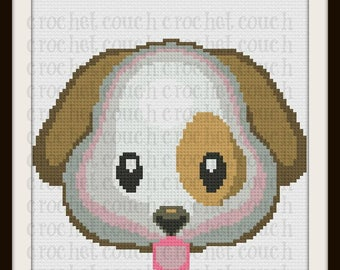 Puppy Face Twin Afghan, C2C Crochet Pattern, Written Row Counts, C2C Graphs, Corner to Corner, Crochet Pattern, C2C Graph