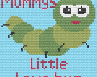 Mommy's Little Love Bug, Kids Afghan, C2C Crochet Pattern, Written Row by Row, Color Counts, Instant Download, C2C Graph, C2C Pattern