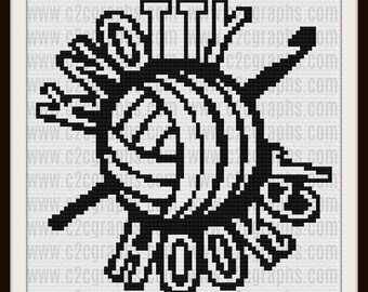 Knotty Hooker Afghan, C2C Crochet, Graph, & Written Word Chart, Hooker Afghan, Hooker C2C Crochet