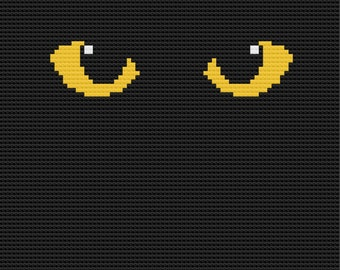 Yellow Cat Eyes Afghan, C2C Crochet Pattern, Written Row by Row, Color Counts, Instant Download, C2C Graph, C2C Pattern, C2C Graphgan