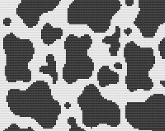 Cow Print Baby Afghan, SC Crochet Pattern, tss Crochet Pattern,  SC Graph, TSS Graph