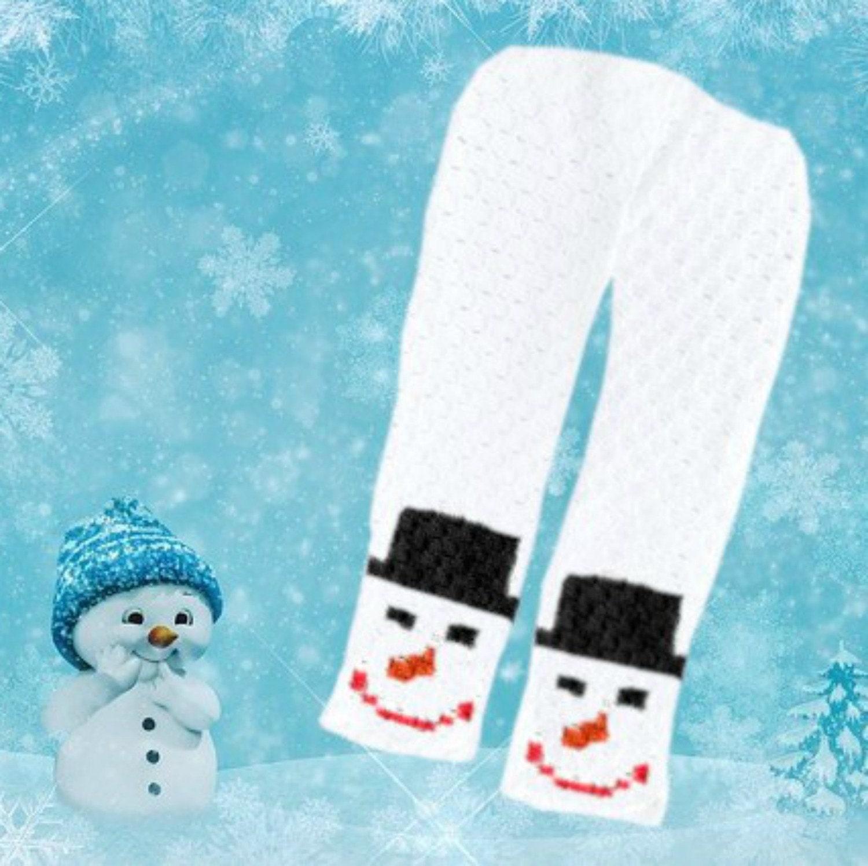 Snowman Scarf, C2C Crochet Pattern, Written Row Counts
