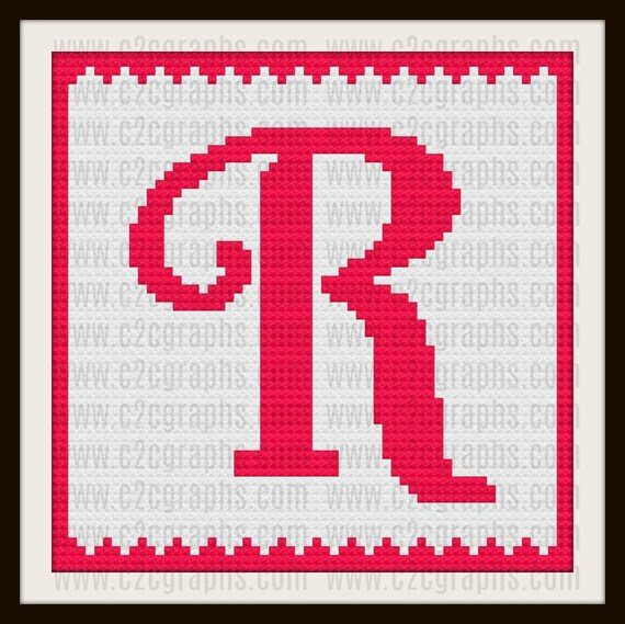 Letter R Kids Afghan, C2C Crochet Pattern, Written Row Counts, C2C Graphs,  Corner to Corner, Crochet Pattern, C2C Graph