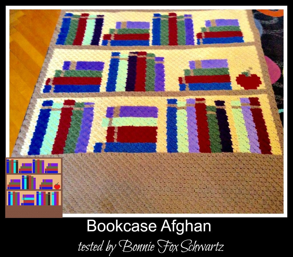 Bookshelf Afghan, C2C Crochet Pattern, Written Row Counts
