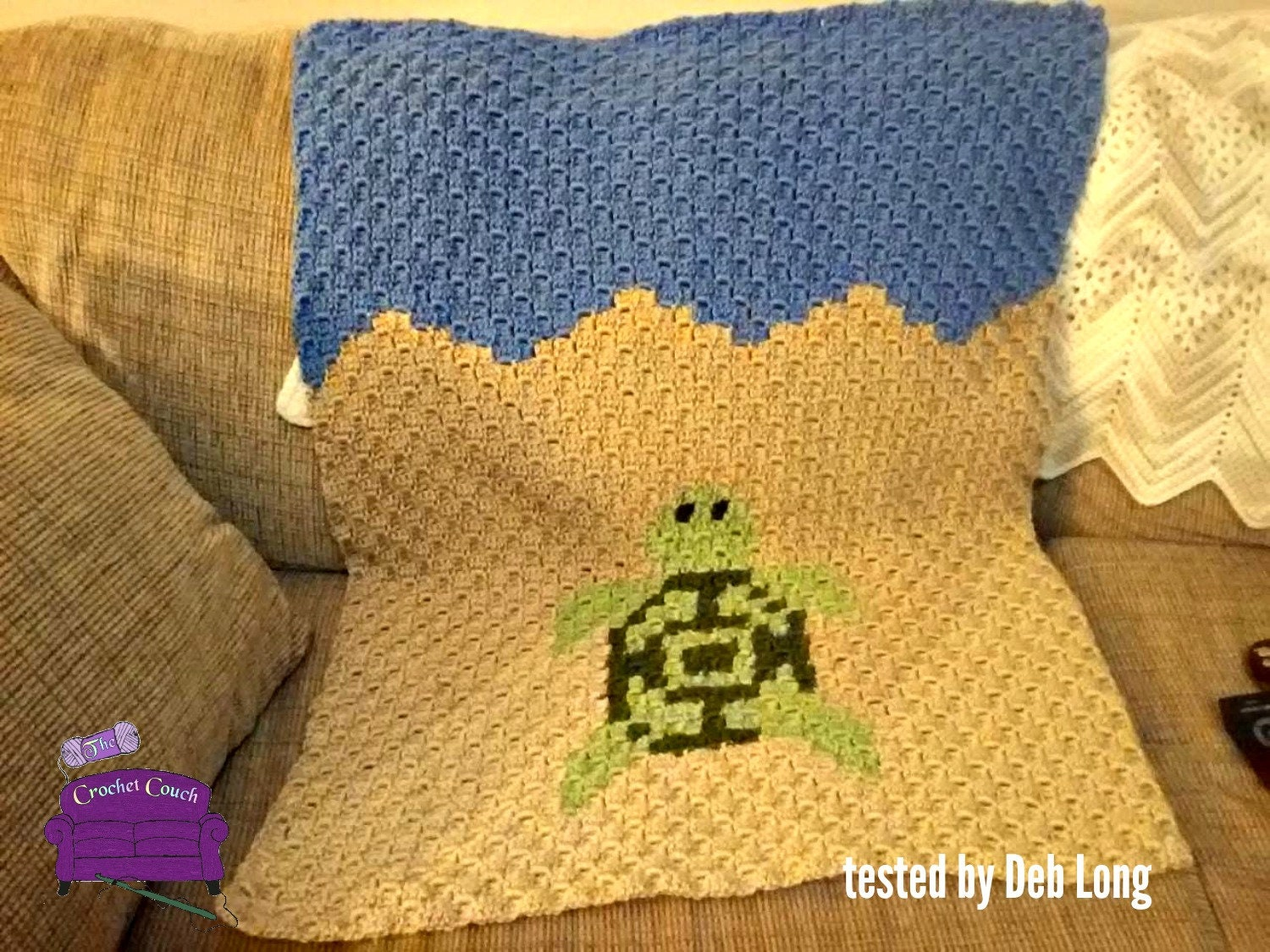 Turtle Baby Afghan C2c Crochet Pattern Written Row By