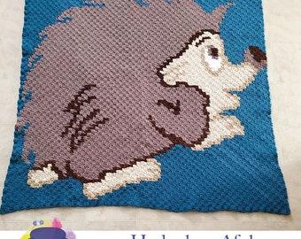 Hedgehog Afghan 2, C2C Crochet Pattern, Written Row Counts, C2C Graphs, Corner to Corner, Crochet Pattern, C2C Graph