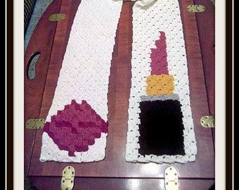 Kiss Me Scarf, C2C Crochet Pattern, Written Row Counts, C2C Graphs, Corner to Corner, Crochet Pattern, C2C Graph