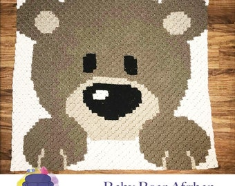 Baby Bear Afghan, C2C Crochet Pattern, Written Row Counts, C2C Graphs, Corner to Corner, Crochet Pattern, C2C Graph