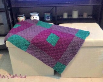 Deborah Small Quilt Afghan, C2C Crochet Pattern, Written Row Counts, C2C Graphs, Corner to Corner, Crochet Pattern, C2C Graph