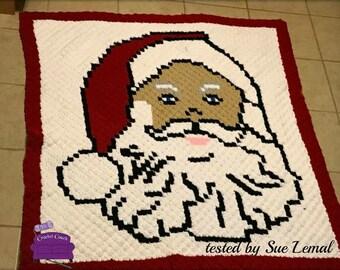 Santa Claus Afghan, C2C Crochet Pattern, Written Row Counts, C2C Graphs, Corner to Corner, Crochet Pattern, C2C Graph