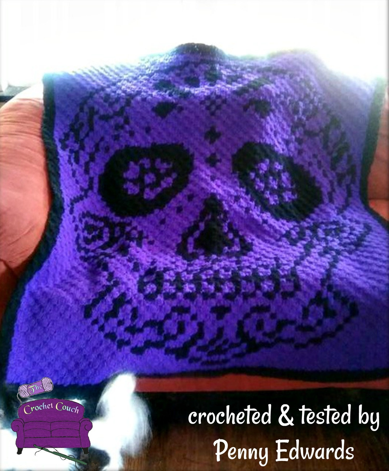 Sugar Candy Skull Crochet Pattern | Squirrel Picnic | 1815x1500