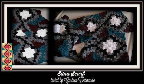 EDNA Scarf, C2C Crochet Pattern, Written Row Counts, C2C Graphs, Corner to  Corner, Crochet Pattern, C2C Graph