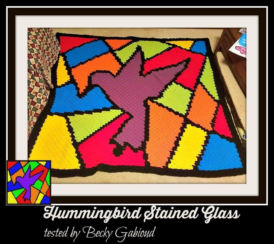Hummingbird Afghan C2c Crochet Pattern Written Row Counts C2c