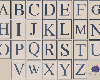 Letter Twin Afghan, C2C Crochet Pattern, Written Row Counts, C2C Graphs, Corner to Corner, Crochet Pattern, C2C Graph