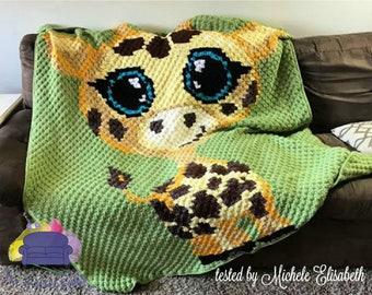 Baby Giraffe Afghan, C2C Crochet Pattern, Written Row Counts, C2C Graphs, Corner to Corner, Crochet Pattern, C2C Graph