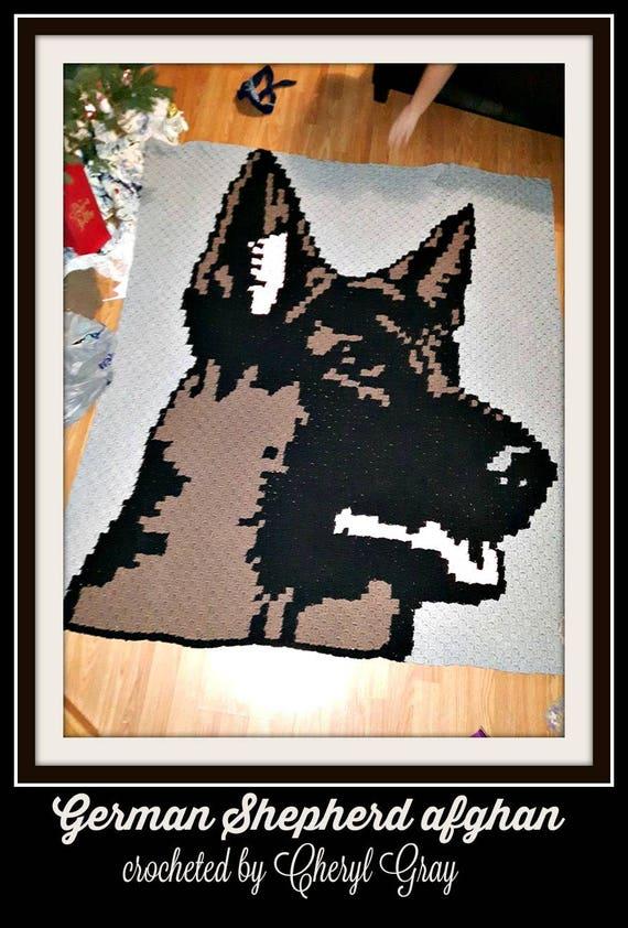 German Shepherd dog crochet pattern PDF. English USA and Spanish   842x570