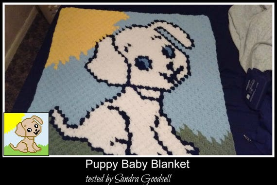 Puppy Baby Blanket, C2C Crochet Pattern, Written Row Counts, C2C Graphs,  Corner to Corner Crochet Pattern, C2C Graph