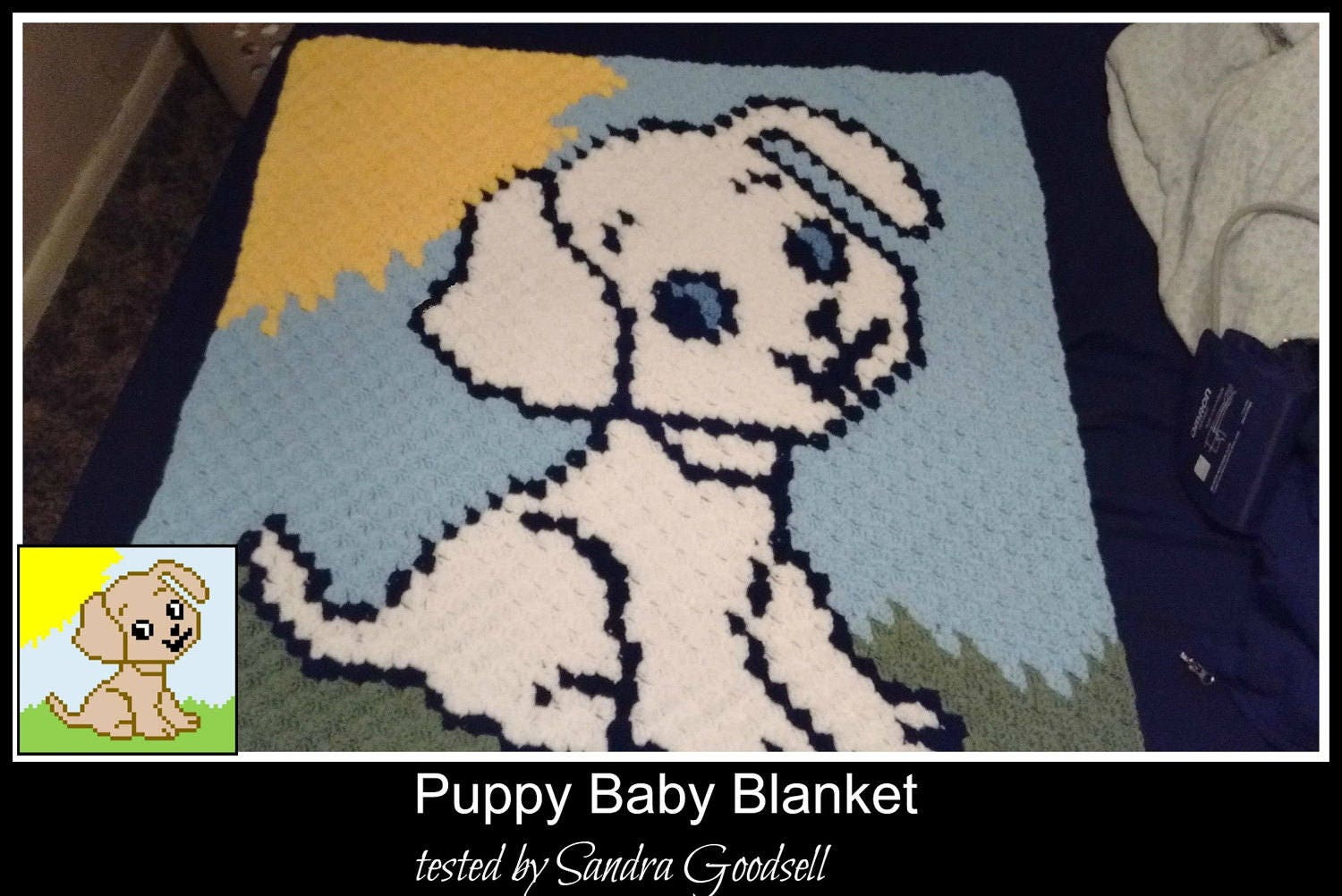 Puppy Baby Blanket C2c Crochet Pattern Written Row Counts C2c