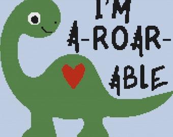 Dinosaur A-Roar-Able Kids Afghan, SC Crochet Pattern, tss Crochet Pattern,  SC Graph, TSS Graph