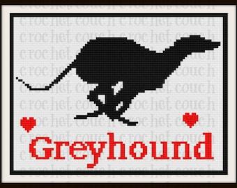 Greyhound Silhouette Afghan, C2C Crochet Pattern, Written Row Counts, C2C Graphs, Corner to Corner, Crochet Pattern, C2C Graph