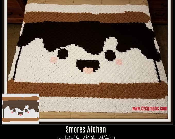 Featured listing image: Smores Baby C2C Graph, Smores Baby Small Afghan, Smores Baby Crochet Pattern